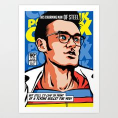 Post-Punk Comix: Moz Art Print by Butcher Billy