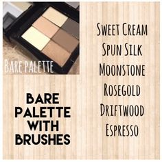 Create your own palette-ask me how! Message me or email me at afranks830@marykay.com Like my facebook page at www.facebook.com/afranks830 to see specials.