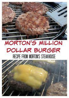 Morton's Million Dollar Burger - recipe from Morton's Steakhouse - it really is . - Morton's Million Dollar Burger – recipe from Morton's Steakhouse – it really is the best bu - Grilling Recipes, Meat Recipes, Cooking Recipes, Grilled Hamburger Recipes, Best Fried Hamburger Recipe, Hamburger Patties Recipe, Hamburger Egg, Stuffed Burger Recipes, Hamburger Seasoning Recipe