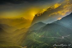 Ô Quý Hồ Pass, Lao Cai province, near Sapa Town on sunset. Photo take 09/05/2018