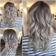 Resultado de imagen para cabello con mechones plateados