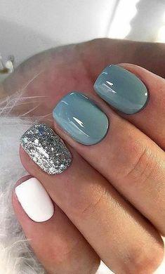 White Nail Art, White Nails, Best Acrylic Nails, Acrylic Nail Designs, Gel Manicure Designs, Nail Polish Designs, Stylish Nails, Trendy Nails, Nails Yellow
