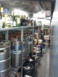 Keg racks, Beer Shelves, for narrow barside walk-in Cooler