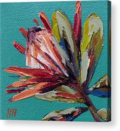 King Proteas Acrylic Print by Yvonne Ankerman. All acrylic prints are professionally printed, packaged, and shipped within 3 - 4 business days and delivered ready-to-hang on your wall. Protea Art, Simple Oil Painting, Australian Native Flowers, Unique Trees, Diy Canvas Art, Oil Painting Abstract, Pictures To Paint, Painting Inspiration, Flower Art