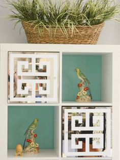 O'verlays ™ by Danika & Cheryle llc could put mirrors on back side of drawers and paint them and then add handles