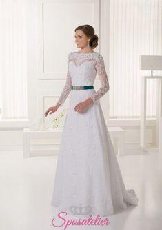 c541e636454a milan- abiti da sposa economico online con cintura colorata