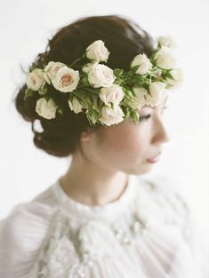 White and blush floral crown // The Wedding Scoop's Top 10 Florals and Decor of 2015