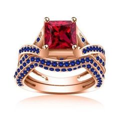 Purchase Lab Created Ruby & Blue Sapphire Solid Rose Gold Bridal Set Ring # Free Stud Earring from JewelryHub on OpenSky. Share and compare all Jewelry. Gothic Engagement Ring, Best Engagement Rings, Designer Engagement Rings, Skull Wedding Ring, Wedding Rings, Mens Skull Rings, Diamond Skull, Design Your Own Ring, Rings For Girls