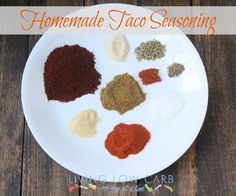 Taco seasoning - no MSG  1/4 cup chili powder  2 tsp paprika  1 tsp garlic powder  1 tsp onion powder  4 tsp cumin  1 tsp dried oregano (optional: grind in a spice grinder before adding to the mix)  2 1/2 tsp sea salt  1/2 tsp black pepper  1/2 tsp cayenne (or more to taste)