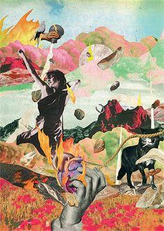Andre Bergamin - Collage & Montage illustrator, Brazil