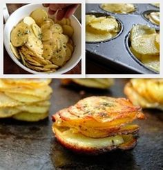 Easy Stack Potatoes - 4 Ingredients and they look so impressive! #nomnom