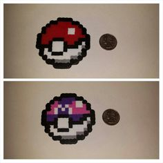 Pokeball Perler Bead Sprite by PixelPalsKy on Etsy