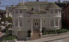 "The Hillard Family's Classic Victorian in San Francisco Bay area from the movie, ""Mrs. Doubtfire.""  (Hooked on Houses)"