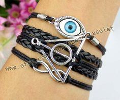 Harry potter bracelet evil eye bracelet infinity by superbracelet, $4.99