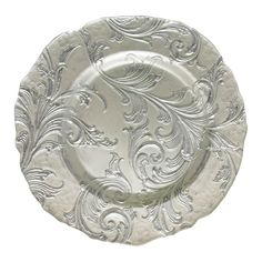 Serve food in elegance with this attractive charger plate. This piece will add a new focal point to any table that it graces.