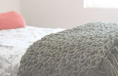 Easy Crochet Throw Blanket. Would also be nice for an airy cowl.