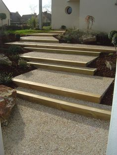6 Useful Tips For Any Landscape Design – Home Dcorz Landscape Stairs, House Landscape, Landscape Design, Landscape Bricks, Landscape Architecture, Modern Landscaping, Front Yard Landscaping, Shade Landscaping, Outside Stairs