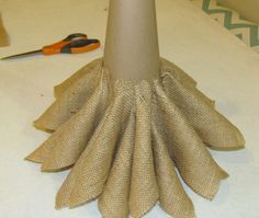 ... throw on some Christmas music, break out the hot cider and make a burlap Christmas tree for your home! Description from rags-n-rhinestones.com. I searched for this on bing.com/images