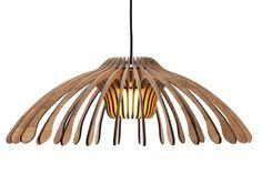Handmade bamboo pendant lamp FLOWER by Odesi. Dutch Design Online   design Djanim Fabian van de Schalk