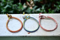 Colorful Leather Cord Bracelets www.etsy.com/shop/AgapeHandmade