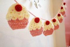 Cupcake vlaggetjes , lees meer over het patroon op Haakinformatie