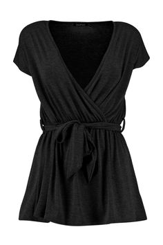 4e927497e1256 Boohoo Kayla Wrap  amp  Tie Front Tunic ( 20) ❤ liked on Polyvore featuring