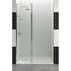Mampara de ducha GME - OPEN C - Frontal de 1 fijo + 1 puerta abatible de 6 mm. - europebath
