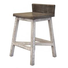 Pull this bar stool up to your island or bar height table for an easy-going feel in your dining room. This bar stool features a two-tone finish that is distressed for a charming, vintage look.  The Stone Relaxed Vintage Bar Stool by International Furniture Direct at Great American Home Store in the Memphis, TN, Southaven, MS area.  #ShopGAHS #barstool #stool #counterheight #backlesschair