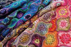oval square motif.free pattern granny square,blanket