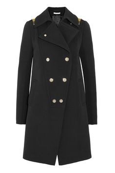 Givenchy Wool coat with gold bars NET-A-PORTER.COM