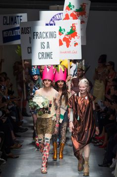 FASHIONISTA.com (Vivienne Westwood Puts Protest Before the Clothes...)