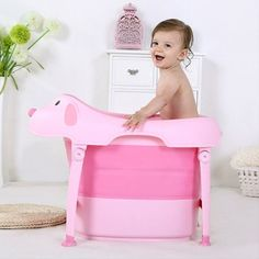 Non-toxic, Safe, Environmental-friendly and High Quality Material Suitable for ages years old Portable, Easy to Carry. Tub and Legs can be easily folded for size reduction and portability Comes in Pink and Blue Colors +/- KG 10 Year Old, 10 Years, Blue Colors, Bathtub, Legs, Children, Pink, House, Standing Bath
