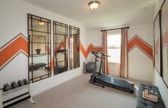 In this home, a fourth bedroom is cleverly converted into a fitness area. Easton Park 50s // Austin, TX // Southland Plan // Highland Homes