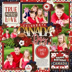 Used the following from the Sweet Shoppe: *NEW* Template - Get Festive: Canada Day by Cindy Schneider *NEW* Get Festive: Canada Day by Kristin CB and Digital Scrapbook Ingredients