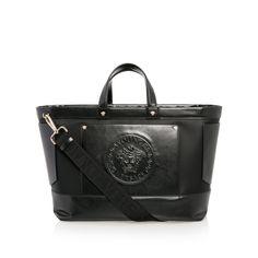 c076fc9b534d YOUNG VERSACE Baby Girls Medusa Changing Bag - Black Baby girls changing bag  • Premium leather