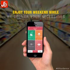Just order your groceries with us and have them delivered in no time. So sit back enjoy your weekend hassle free.  Download Now: