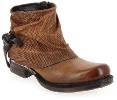 Boots Femme AirStep - AS98 en Cuir Camel