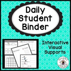 Editable Daily Student Binder with Interactive Visual Supports – School Calendar İdeas. Calendar Time, Kids Calendar, School Calendar, Teacher Hacks, Teacher Pay Teachers, Teacher Resources, School Resources, School Teacher