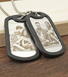 Engraved Necklace, Personalized Necklace, Dog Tag Necklace, Military Mom, Military Girlfriend, Mother Gifts, Fathers Day Gifts, Picture Engraving, Custom Dog Tags