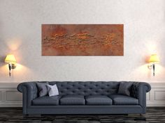 Abstract picture from real rust and strong structure - Leinwandgemälde - malmittel Abstract Pictures, Love Seat, Abstract Art, Image, Furniture, Home Decor, Beautiful, Abstract Canvas Art, Decoration Home