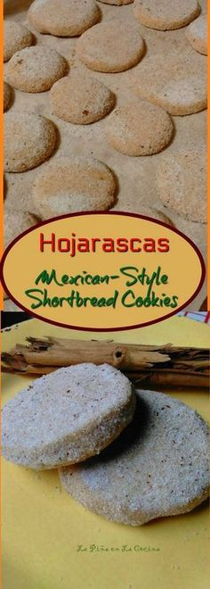 Hojarascas-Traditional Mexican Shortbread Cookies - La Piña en la Cocina - Do you have a family tradition that was passed down to you? Making cookies during the holidays is - Mexican Pastries, Mexican Sweet Breads, Mexican Bread, Mexican Dishes, How To Make Cookies, Making Cookies, Mexican Cookies, Sugar Cookies, Octopus