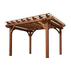 This beautiful 10' x 12' pergola is made from 100% cedar. It lets vines and crawling roses turn your patio into a naturally shaded oasis.