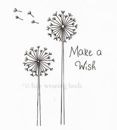 Make a Wish Dandelion Embroidery Pattern -  would take out the words and leave just the dandelions
