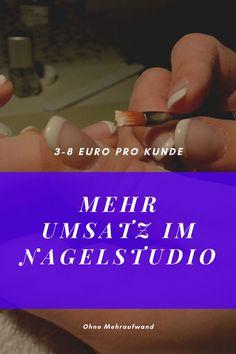 Erfahre wie Du mit deinem Nagelstudio 3-8 Euro mehr Umsatz pro Kunde machst ohne Mehraufwand und auch noch an Kunden verdienst die garnicht mehr zu dir kommen oder wenn Du dein Geschäft wegen dem nächsten Lockdown wieder schliessen musst
