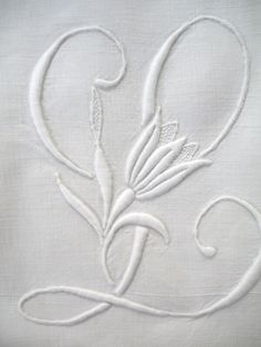Monograms Monograms jj johnston house of hair and beauty - House Beautiful Embroidery Alphabet, Embroidery Monogram, White Embroidery, Diy Embroidery, Cross Stitch Embroidery, Embroidery Designs, Machine Embroidery Patterns, Lace Patterns, Linens And Lace