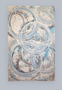 Blue and Gray Original Acrylic Abstract by OraBirenbaumArt on Etsy, $445.00