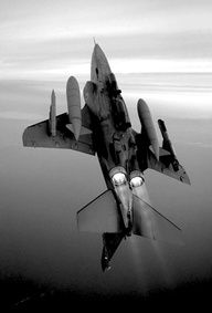 F4 with 2 General Electric J79 engines in afterburner