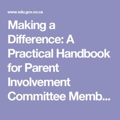 Making a Difference: A Practical Handbook for Parent Involvement Committee Members - HandbookPIC.pdf
