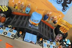 Dirt Bike Themed Birthday Party with Lots of Awesome Ideas via Kara's Party Ideas | Kara'sPartyIdeas.com #Motorcross #DirtBike #Party #Ideas...