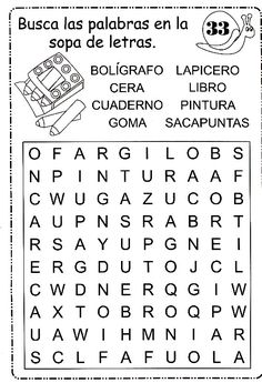 sopa de letras                                                                                                                                                                                 Más Spanish Lessons For Kids, Spanish Teaching Resources, Teaching Materials, Speech Therapy Activities, Reading Activities, Word Study, Word Work, Elementary Spanish, Fun Worksheets